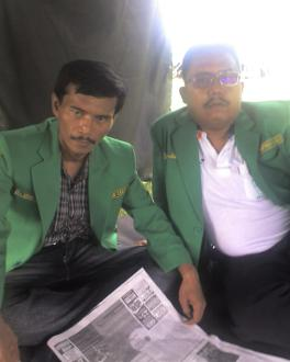 Bersama Ketua GP Ansor Kota Kediri (Drs. H. Anwar Bacrudin)