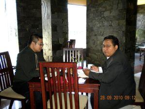 Bayu & Agung Kartika Breakfast di Hotel Insumo Kediri