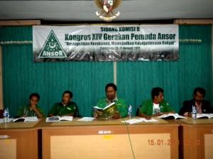 Bayu Pimpin Sidang Komisi B di  Konggres Ansor XIV Surabaya