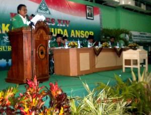 Pidato di Pleno Sidang Komisi Konggres Ansor XIV Surabaya
