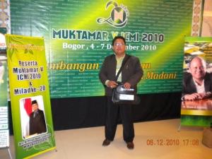 Bayu di Muktamar ICMI V di Bogor