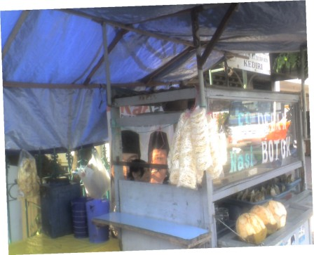 Warung Nasi Botok Jalan Letjen Haryono Kediri