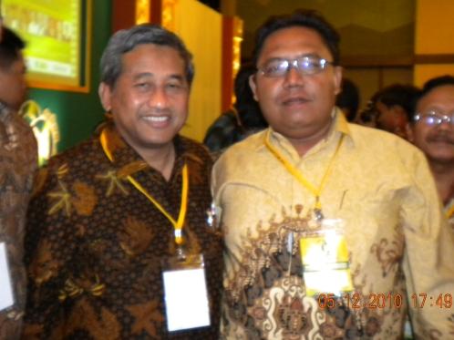 Bayu & Muhammad Nuh di Muktamar ICMI V di Bogor
