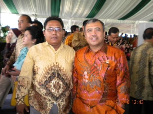 Bayu & Patrialis Akbar di Muktamar ICMI V di Bogor