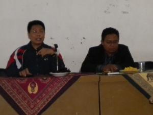 Bayu menjadi Moderator Diskusi KAHMI di STTM Kediri