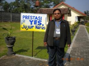 Bayu Menjadi Team Pengawas Independen  UNAS SMA Kab Kediri 2011